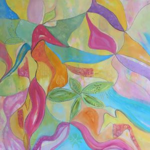 Abstract leaves Painting