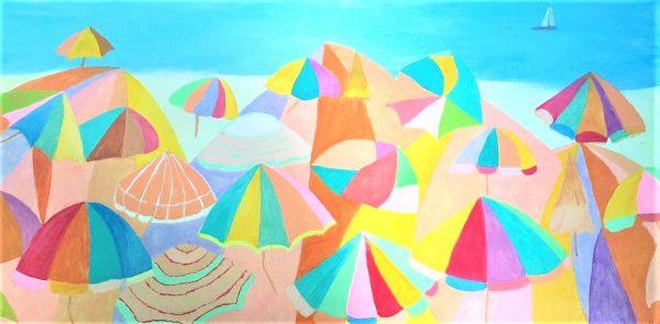 Painting of Sun umbrellas