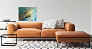 Painting of fluid art on the wall