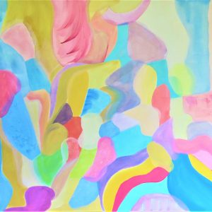 Modern Colourful Shapes Painting