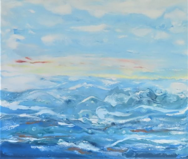 Waves on the beach painting