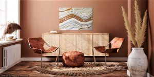 interior design Geode painting