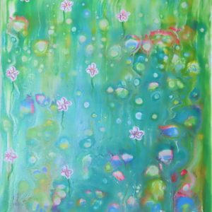 Abstract flowers painting