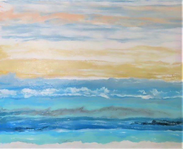 easy beach painting