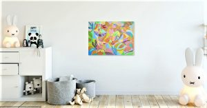 painting of abstract birds